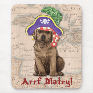 Chocolate Lab Pirate Mouse Pad
