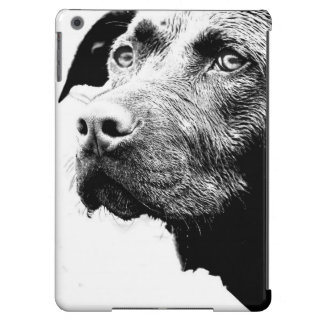 Chocolate Lab Pit Mix Dog in Black and White Case For iPad Air