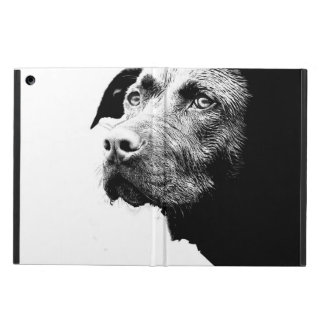 Chocolate Lab Pit Mix Dog in Black and White iPad Air Cases