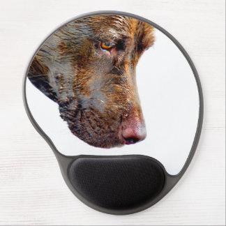 Chocolate Lab Pit Mix Dog Profile Gel Mouse Pad