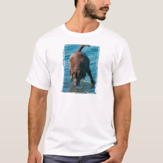 Chocolate Lab playing T-Shirt