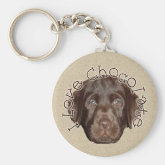 Chocolate Lab Pup Keychain