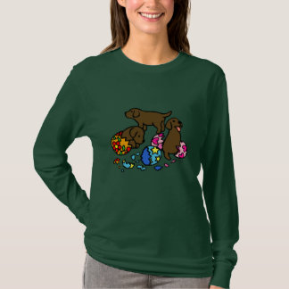 Chocolate Lab Puppies from Eggs T-Shirt