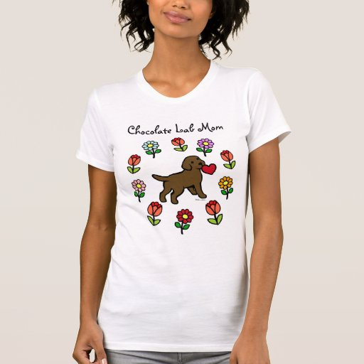 Chocolate Lab Puppy and Red Heart T-Shirt