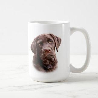 Chocolate lab puppy mug