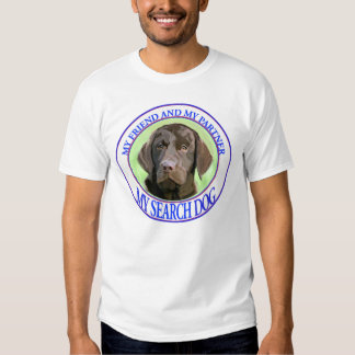 Chocolate lab Search dog Tees