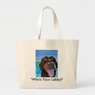 Chocolate Lab Set Canvas Bags