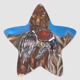 CHOCOLATE LAB STAR STICKER