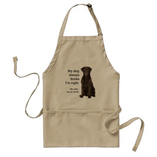 Chocolate Lab v. Wife Adult Apron