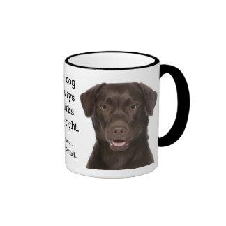 Chocolate Lab v. Wife Ringer Coffee Mug