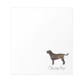Chocolate Lab Watercolor Design Note Pad