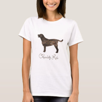 Chocolate Lab Watercolor Design T-Shirt