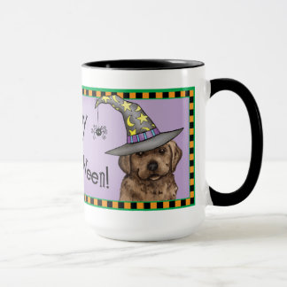 Chocolate Lab Witch Mug
