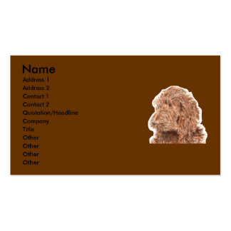 Chocolate Labradoodle Business Cards