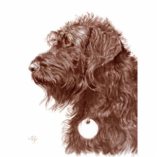 Chocolate Labradoodle Sculpture Standing Photo Sculpture