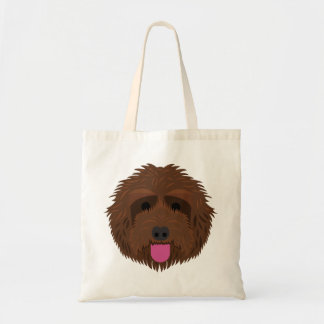 Chocolate Labradoodle Tote Bag
