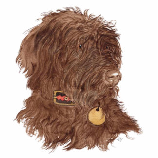Chocolate Labradoodle Xena Sculpture Standing Photo Sculpture