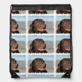 chocolate-labrador-1 drawstring backpack