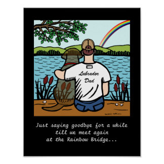 Chocolate Labrador Angel and Dad 1 Poster