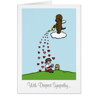 Chocolate Labrador Angel with Love Cards