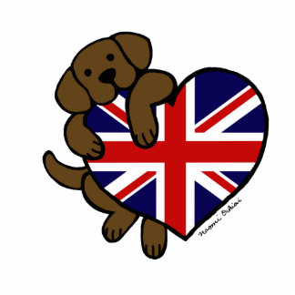 Chocolate Labrador British Heart Cut Outs