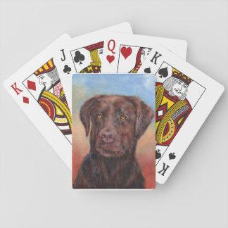 Chocolate Labrador Cartas De Póquer