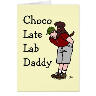 Chocolate Labrador Daddy Card