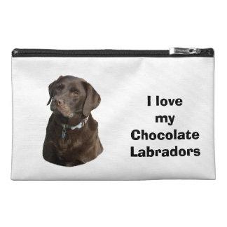 Chocolate Labrador dog photo portrait Travel Accessory Bag