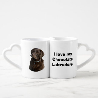 Chocolate Labrador dog photo portrait Coffee Mug Set