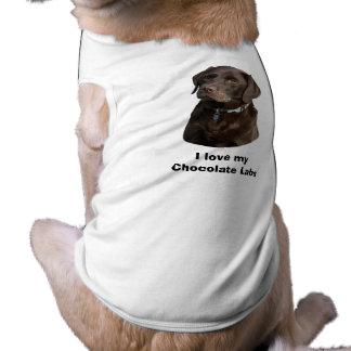 Chocolate Labrador dog photo portrait Dog T Shirt