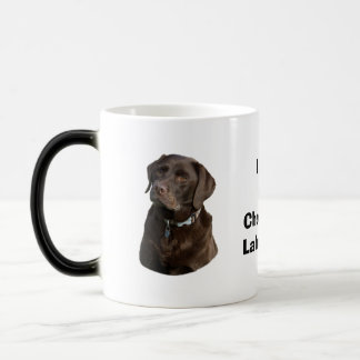 Chocolate Labrador dog photo portrait Magic Mug