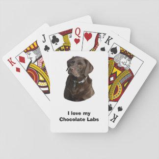 Chocolate Labrador dog photo portrait Poker Cards