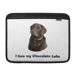 Chocolate Labrador dog photo portrait Sleeves For MacBook Air
