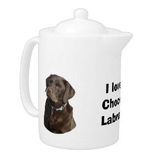 Chocolate Labrador dog photo portrait