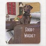 Chocolate Labrador en silla Mousepad