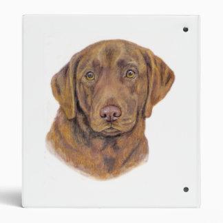 Chocolate Labrador Folder Binder