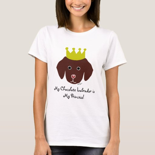 Chocolate Labrador Fun Cartoon Illustration T-Shirt