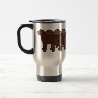 Chocolate Labrador Gradient Travel Mug