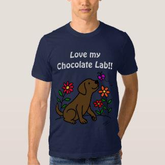 Chocolate Labrador & Green T-shirt