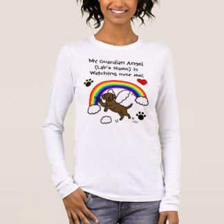 Chocolate Labrador Guardian Angel (Rainbow Bridge) Long Sleeve T-Shirt