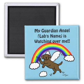 Chocolate Labrador Guardian Angel (Rainbow Bridge) Fridge Magnet
