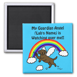 Chocolate Labrador Guardian Angel (Rainbow Bridge) Magnet