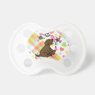 Chocolate Labrador Ice Cream Dream Baby Pacifier