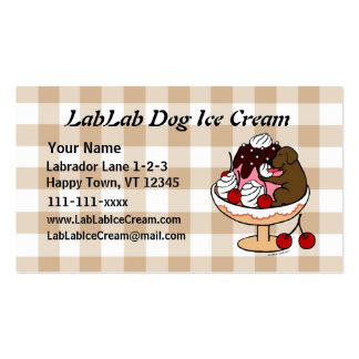 Chocolate Labrador & Ice Cream Sundae Double-Sided Standard Business Cards (Pack Of 100)