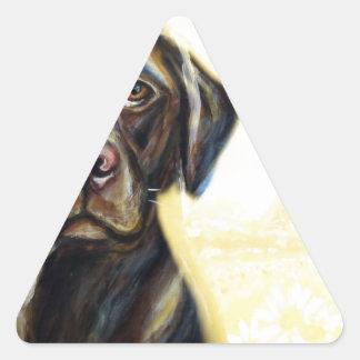 Chocolate Labrador in Paris Sticker