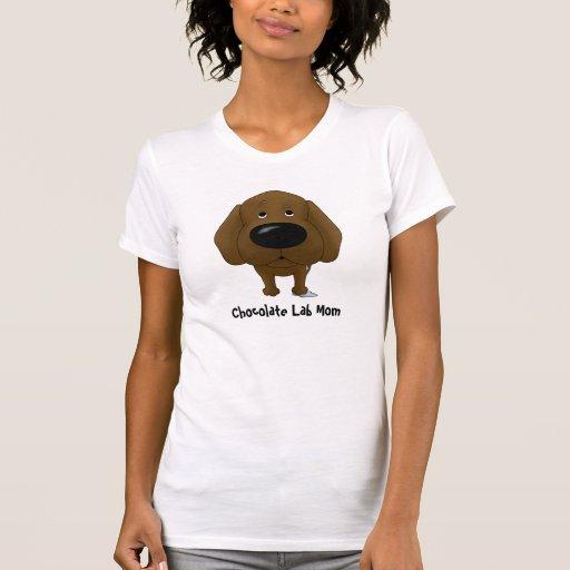 Chocolate Labrador Mom Shirts