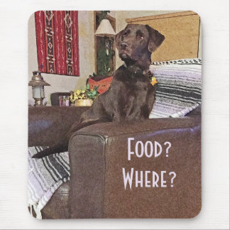 Chocolate Labrador On Chair Mouse Pad