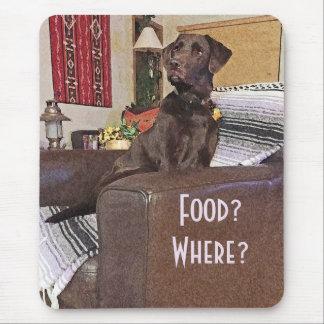 Chocolate Labrador On Chair Mouse Pad