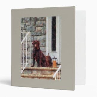 Chocolate Labrador on Porch Binder