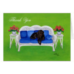 Chocolate Labrador Painting Thank You Cards